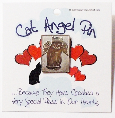 This Old Cat Angel Pins